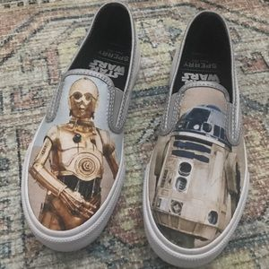 NWOB Sperry Star Wars Canvas Slip On Shoes Men 5
